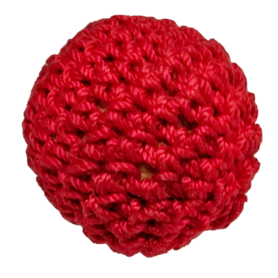 1 inch Crochet Ball Non Magnetic (Red) by Ickle Pickle Products, Inc.