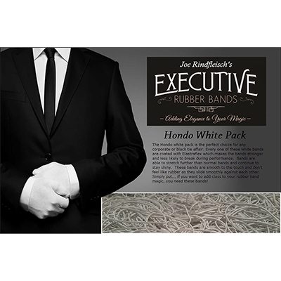 Joe Rindfleisch's Executive Rubber Bands (Hondo - White Pack) by Joe Rindfleisch