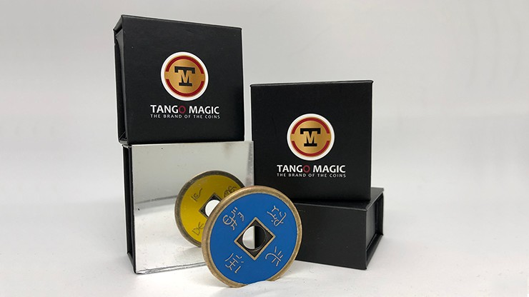 Dollar Size Chinese Coin (Blue and Yellow) by Tango (CH036)