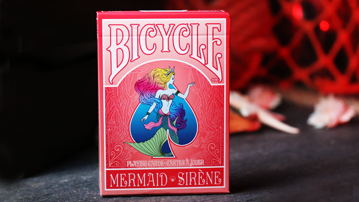 Mermaid Playing Cards (Red) by US Playing Card Co
