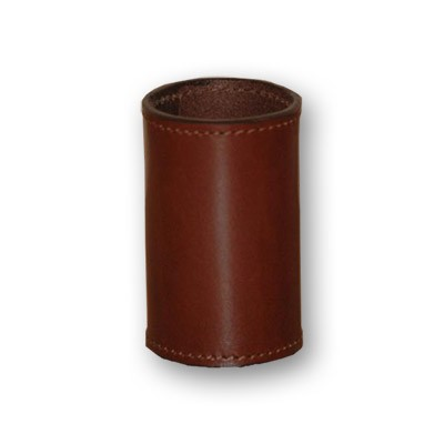 Leather Coin Cylinder (Brown, Half Dollar Size)