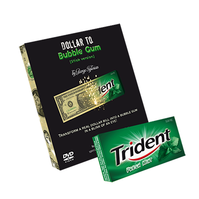 Dollar to Bubble Gum (Trident) by Twister Magic