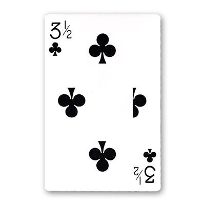 Jumbo Bicycle Card (3 1/2 of Clubs - Red Back)