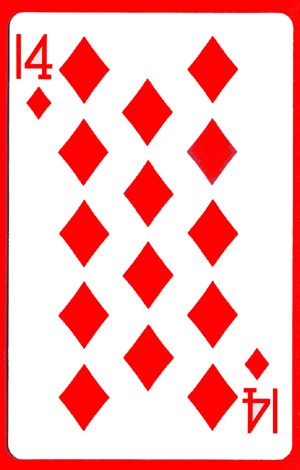 14 of Diamonds Cards (1 card = 1 unit) by Royal Magic