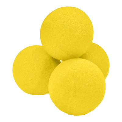 1.5 inch High Density Ultra Soft Sponge Ball (Yellow) Pack of 4 from Magic by Gosh