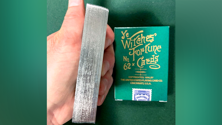 Limited Edition Ye Witches' Silver Gilded Fortune Cards (1 Way Back)(TEAL BOX)