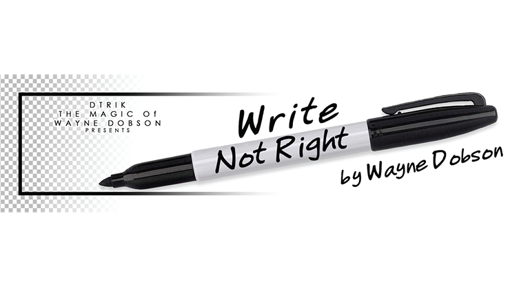 Write, Not Right Sharpie by Wayne Dobson